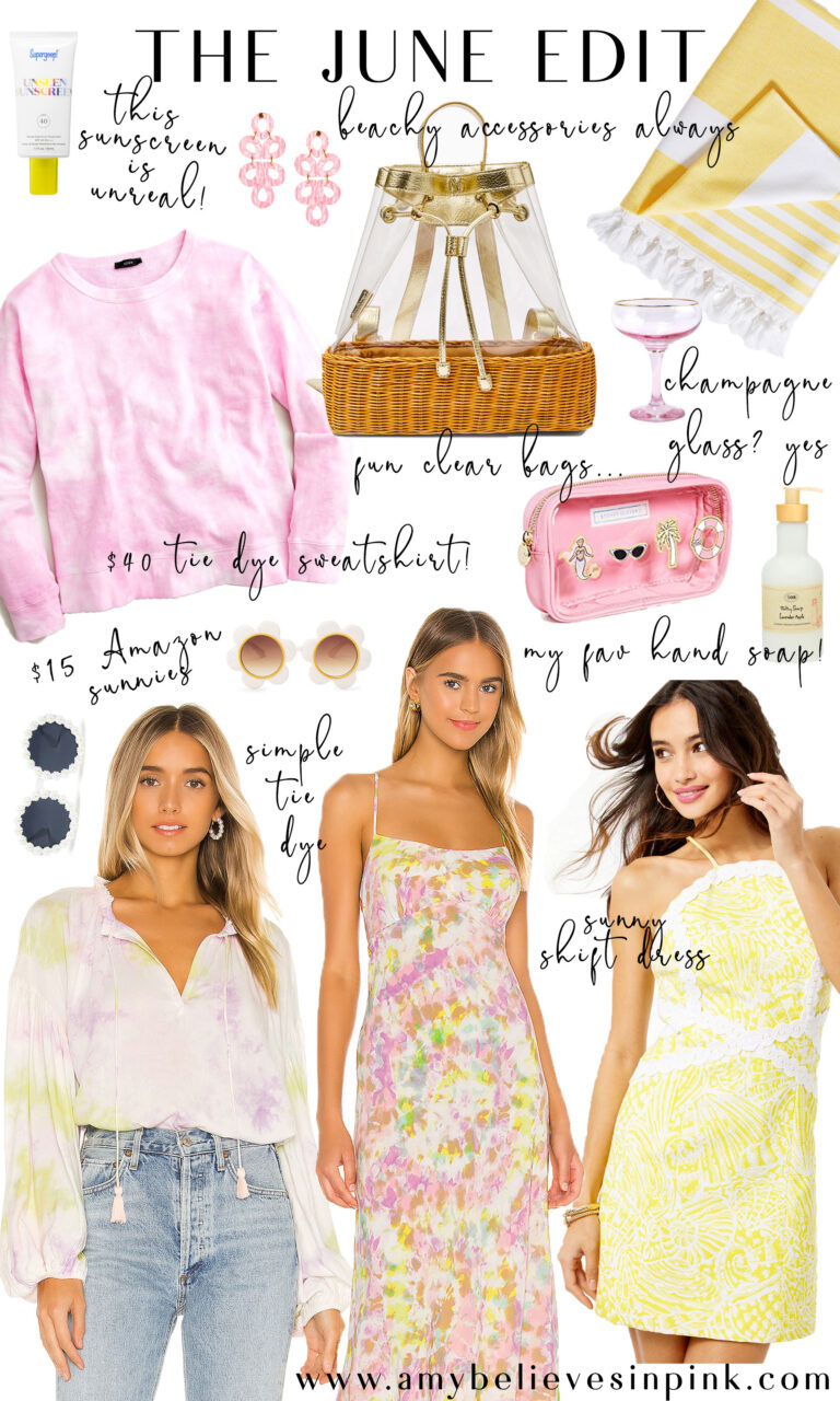The June Edit summer tie dye and beachy accessories