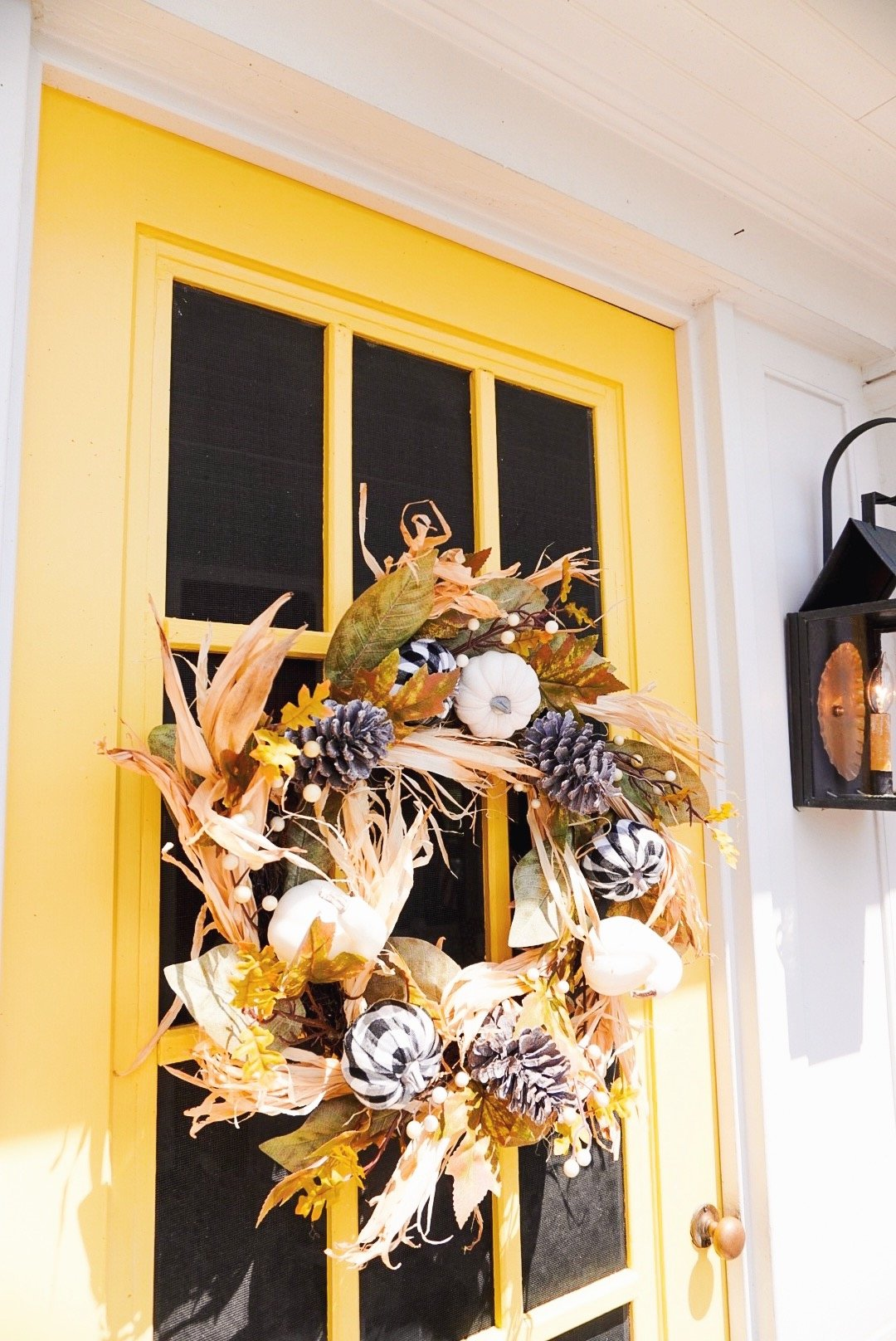 Inexpensive fall décor with Christmas Tree Shops