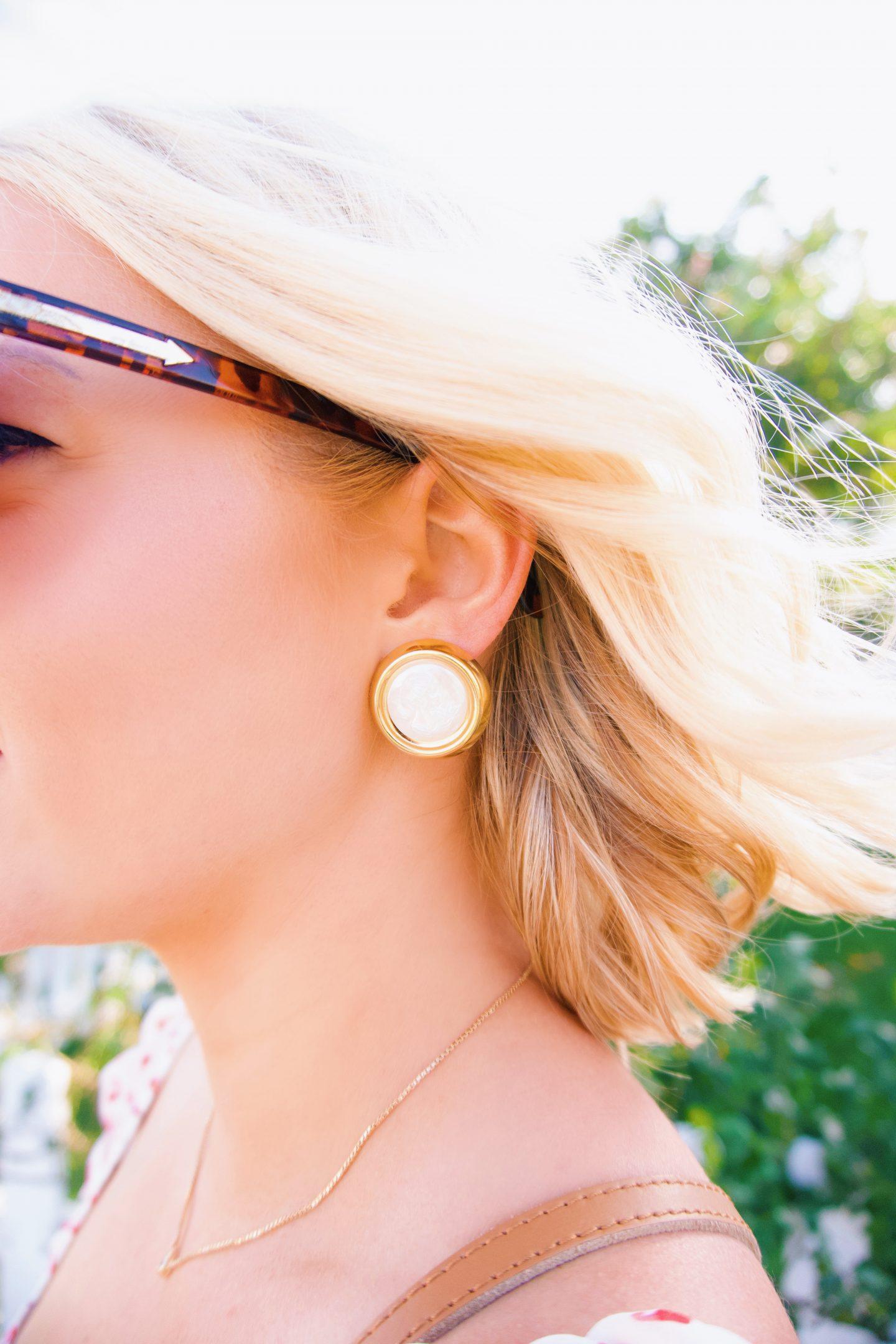 Neely Phelan iridescent stud earrings