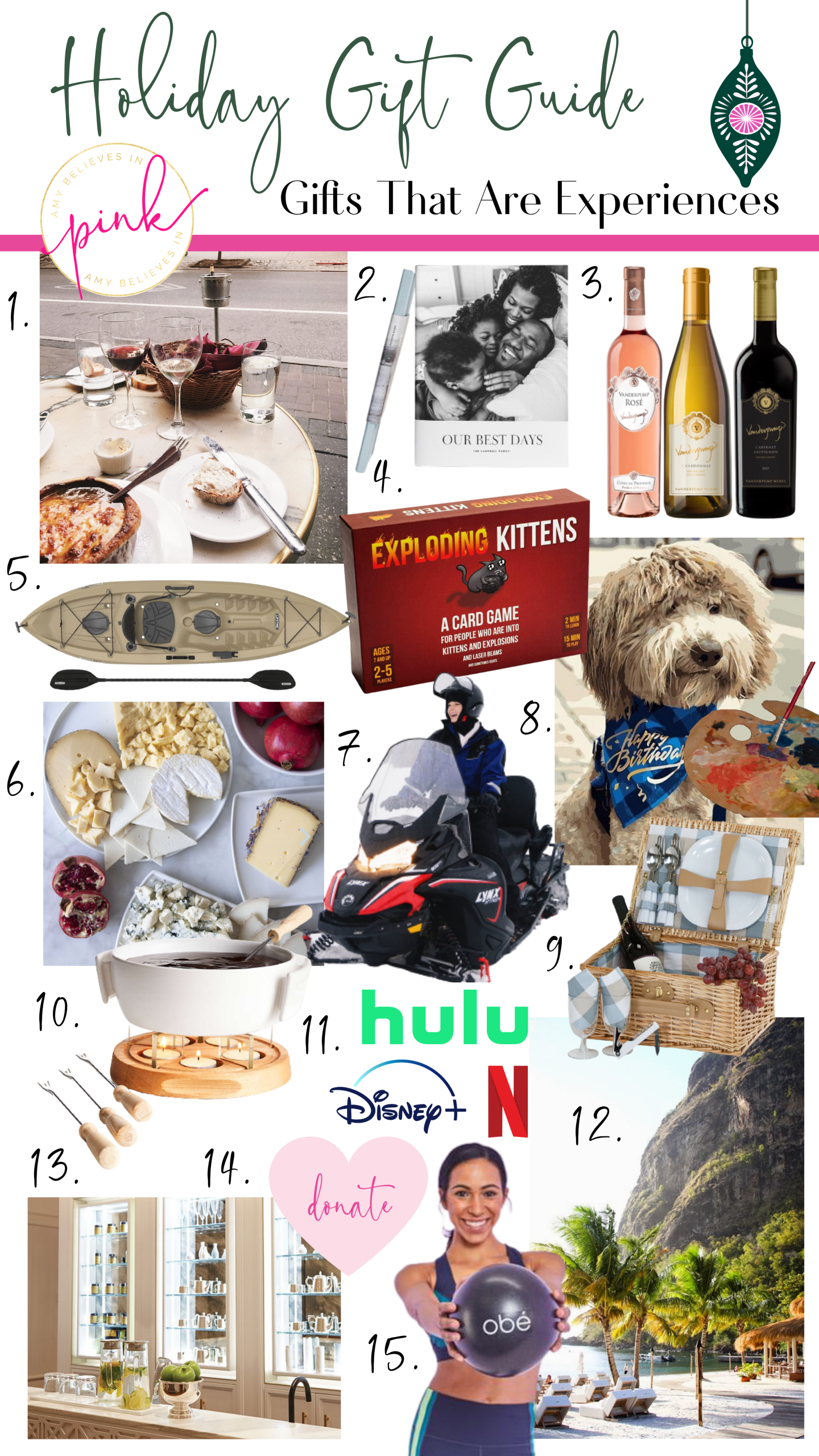 Holiday Gift Guide for Experiences or Activities