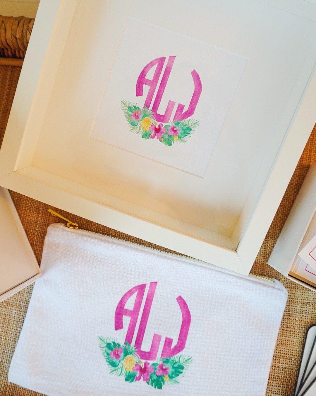 Catherine Sullivan Designs custom monogram watercolor