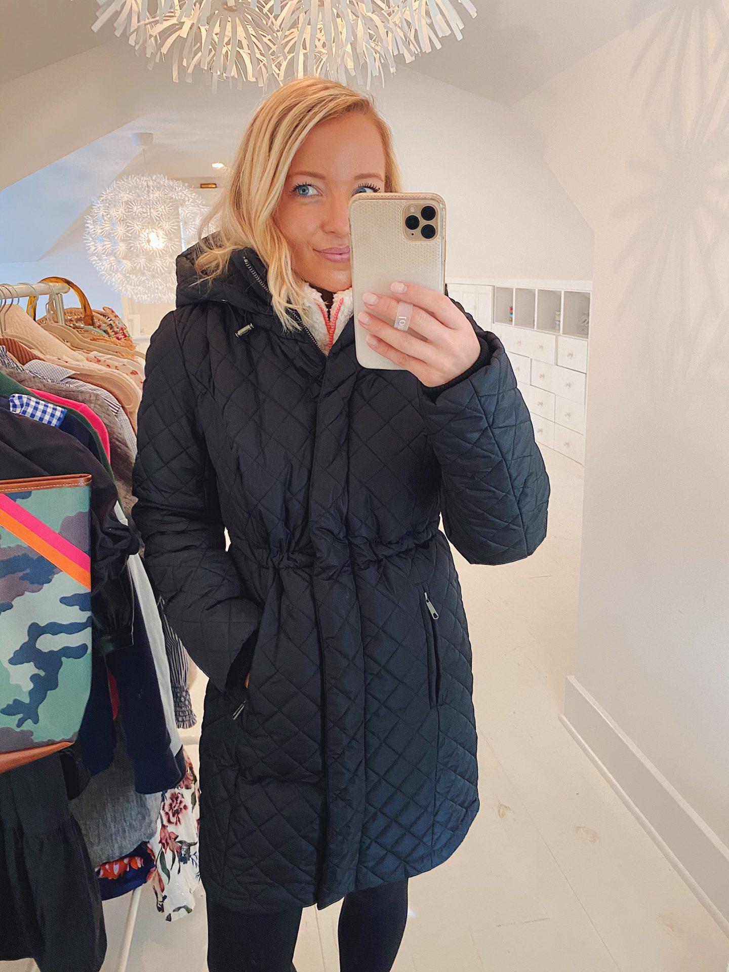 Amazon black quilted coat