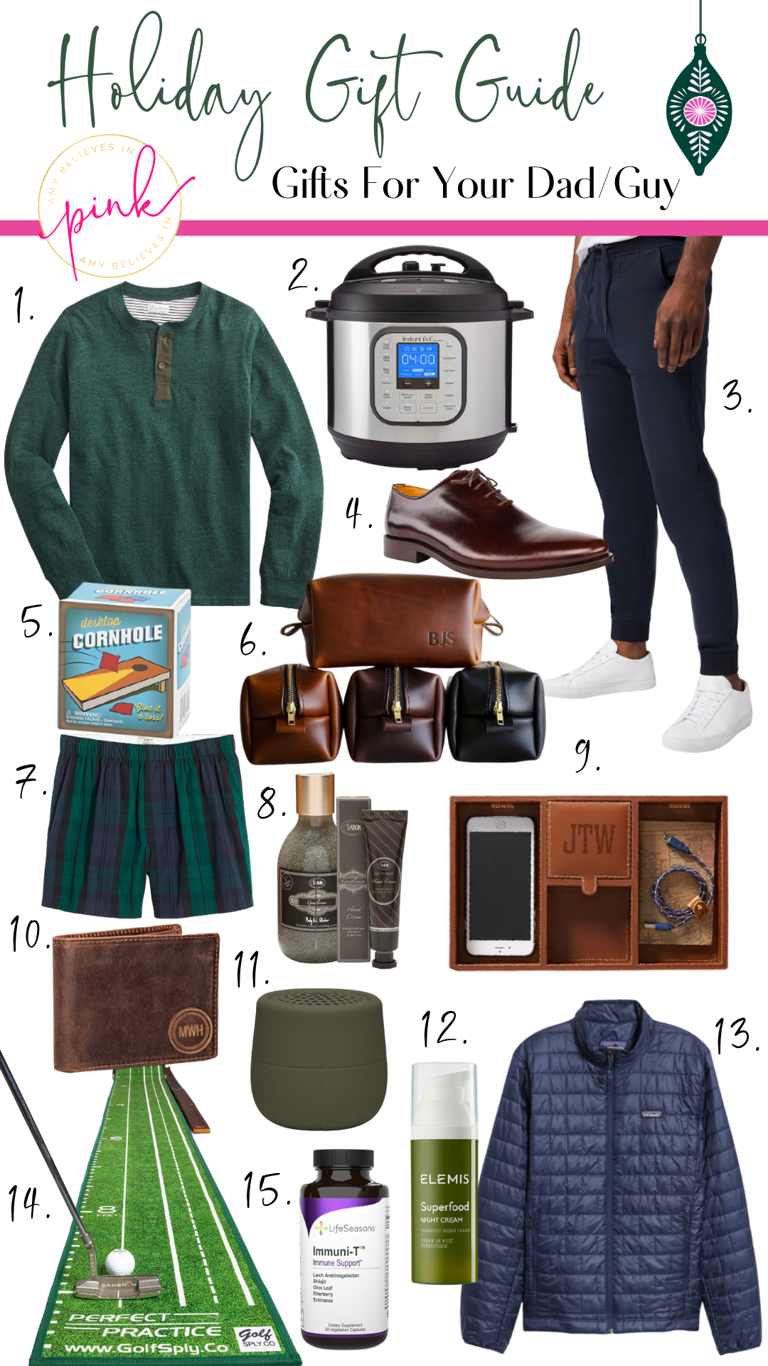 Holiday Gift Guide for your Dad/Guy