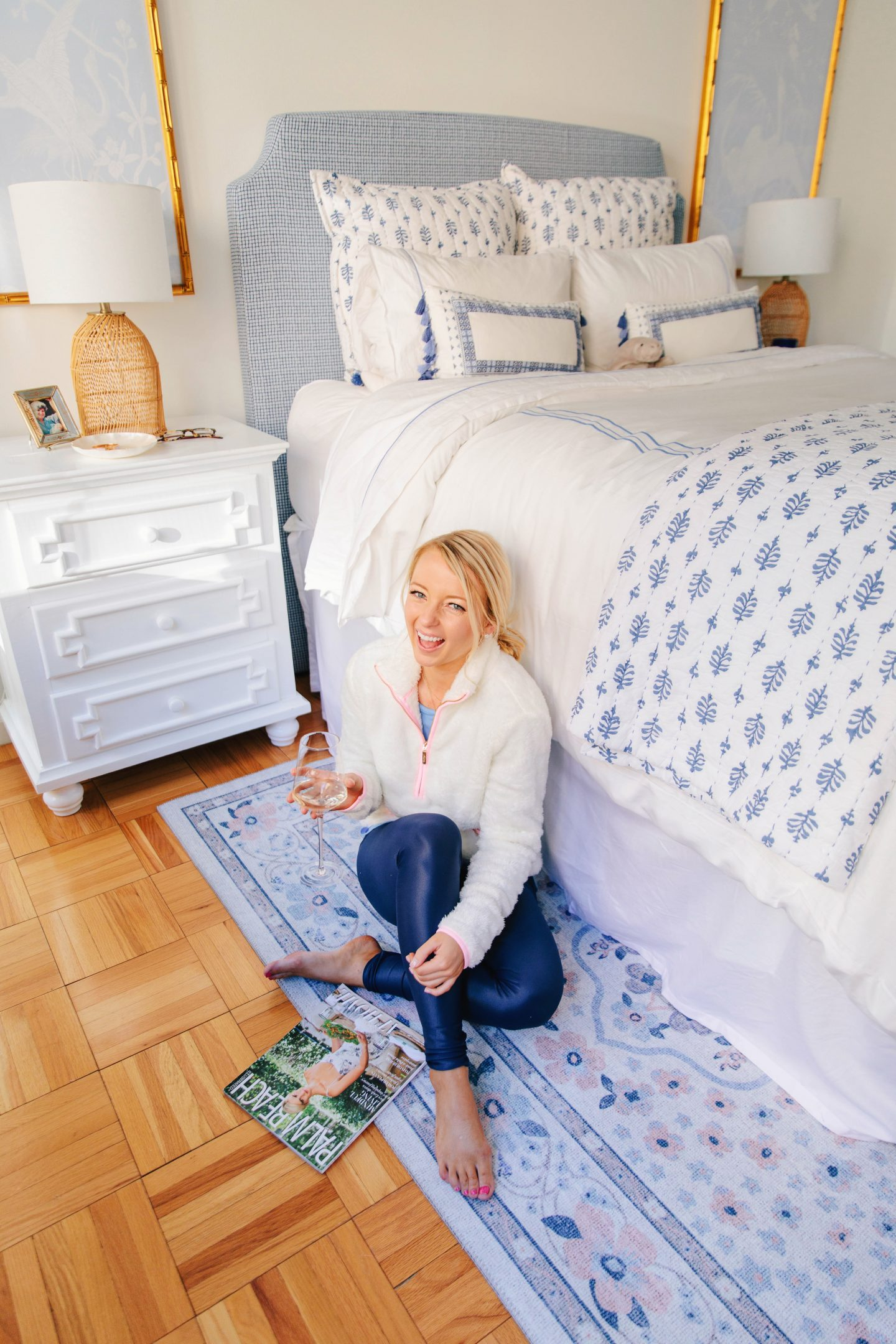 Apartment Bedroom Tour with Coley Home and Serena and Lily bedding
