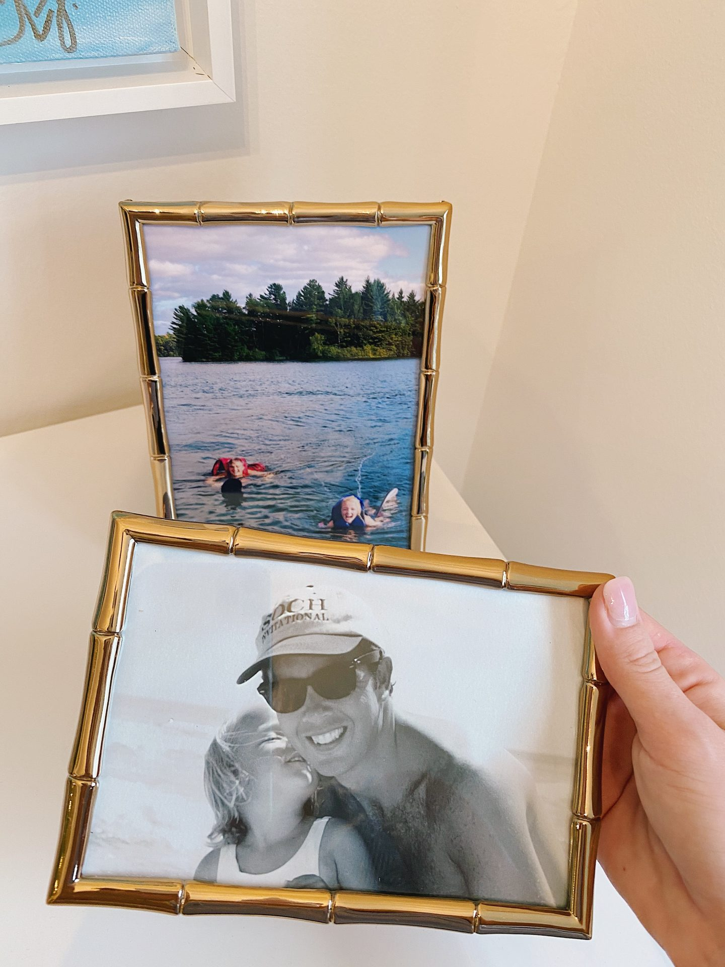 Amazon Prime Home Décor Finds Gold Bamboo Picture Frame