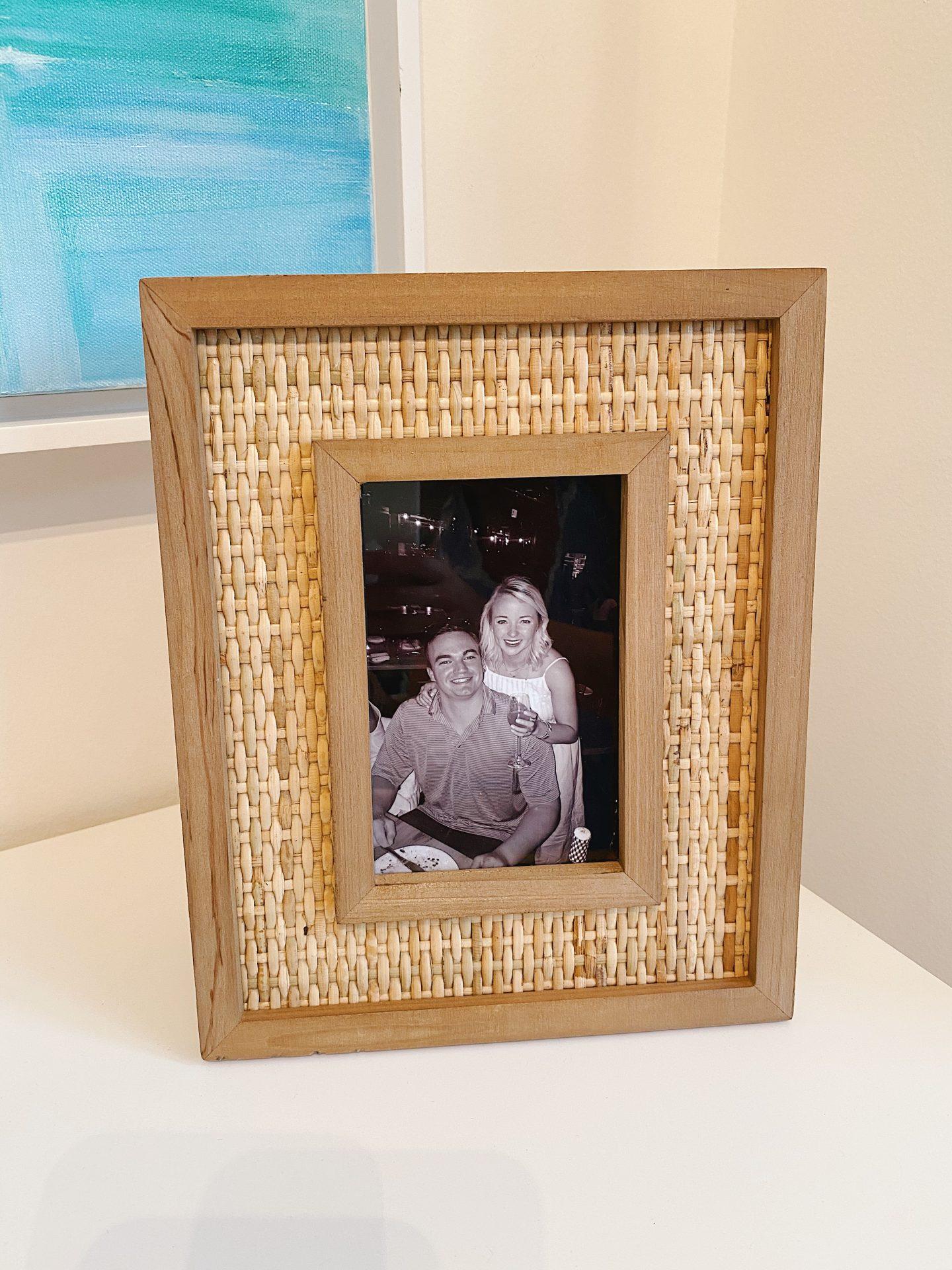 Amazon Prime Home Décor Finds Rattan Wood Frame