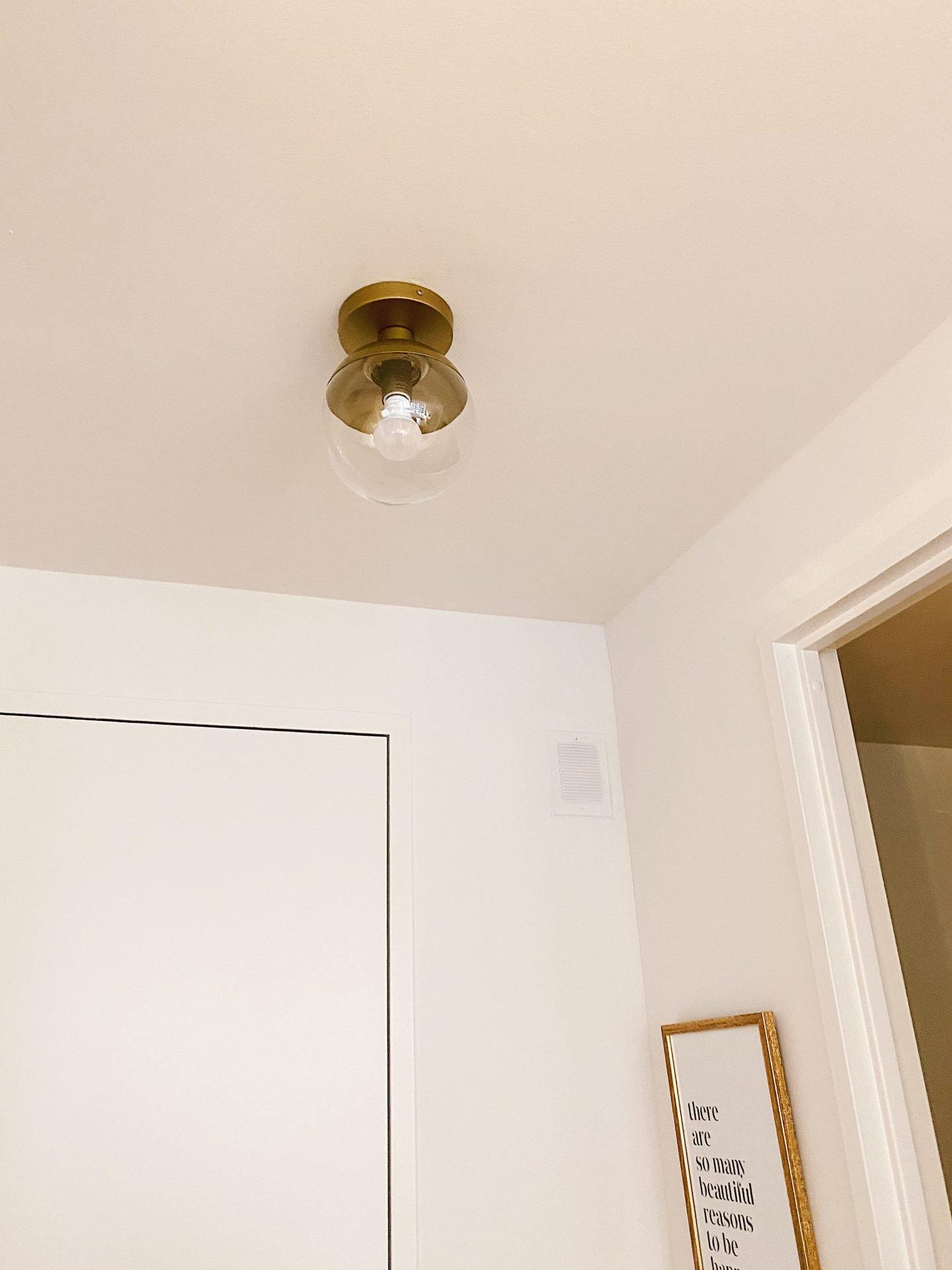 Amazon Prime Home Décor Finds Brass Light Fixture