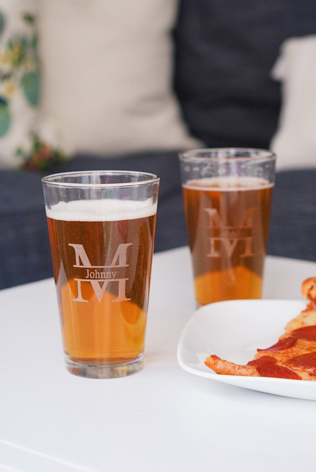 Grain and Oak Personalized Pint Glasses