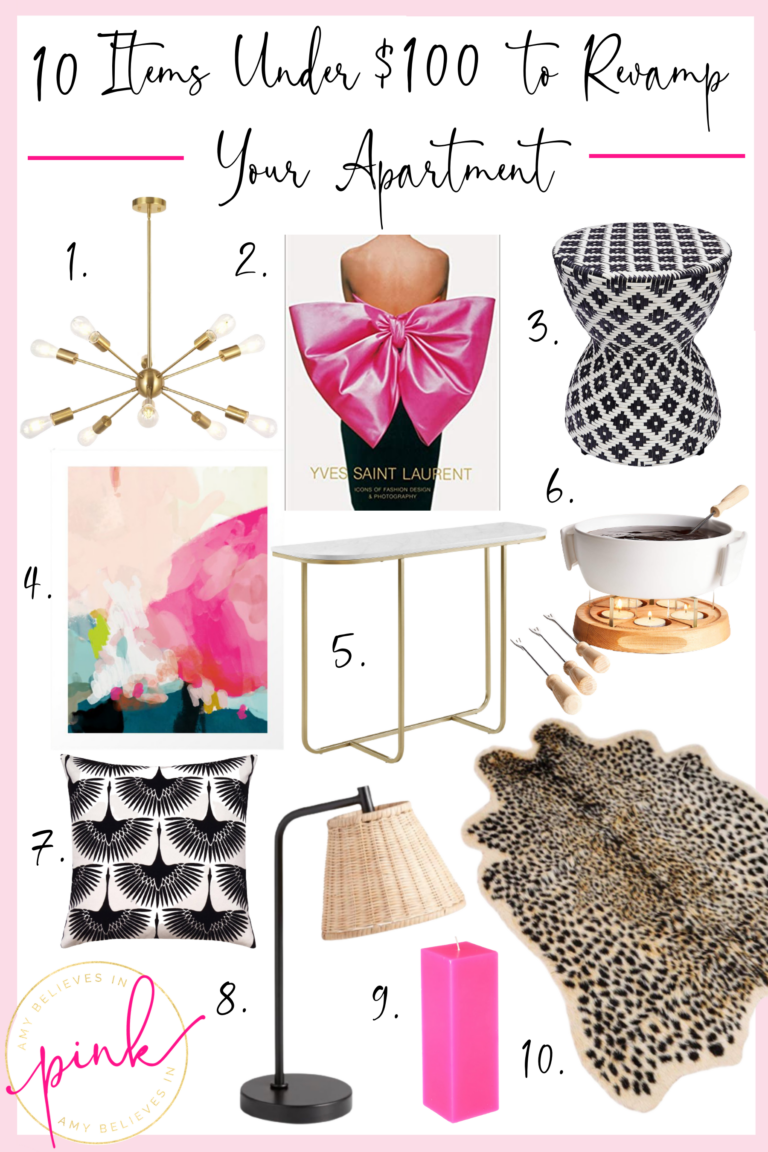 10 Items Under $100 to Revamp Your Apartment