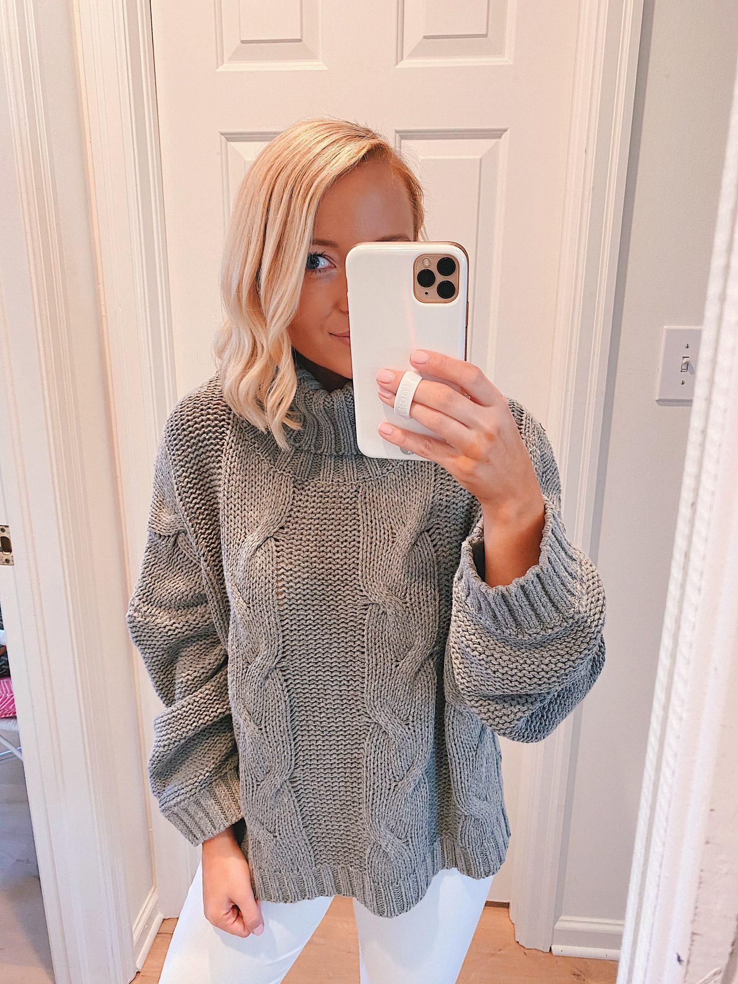 Amazon turtleneck balloon sleeve sweater