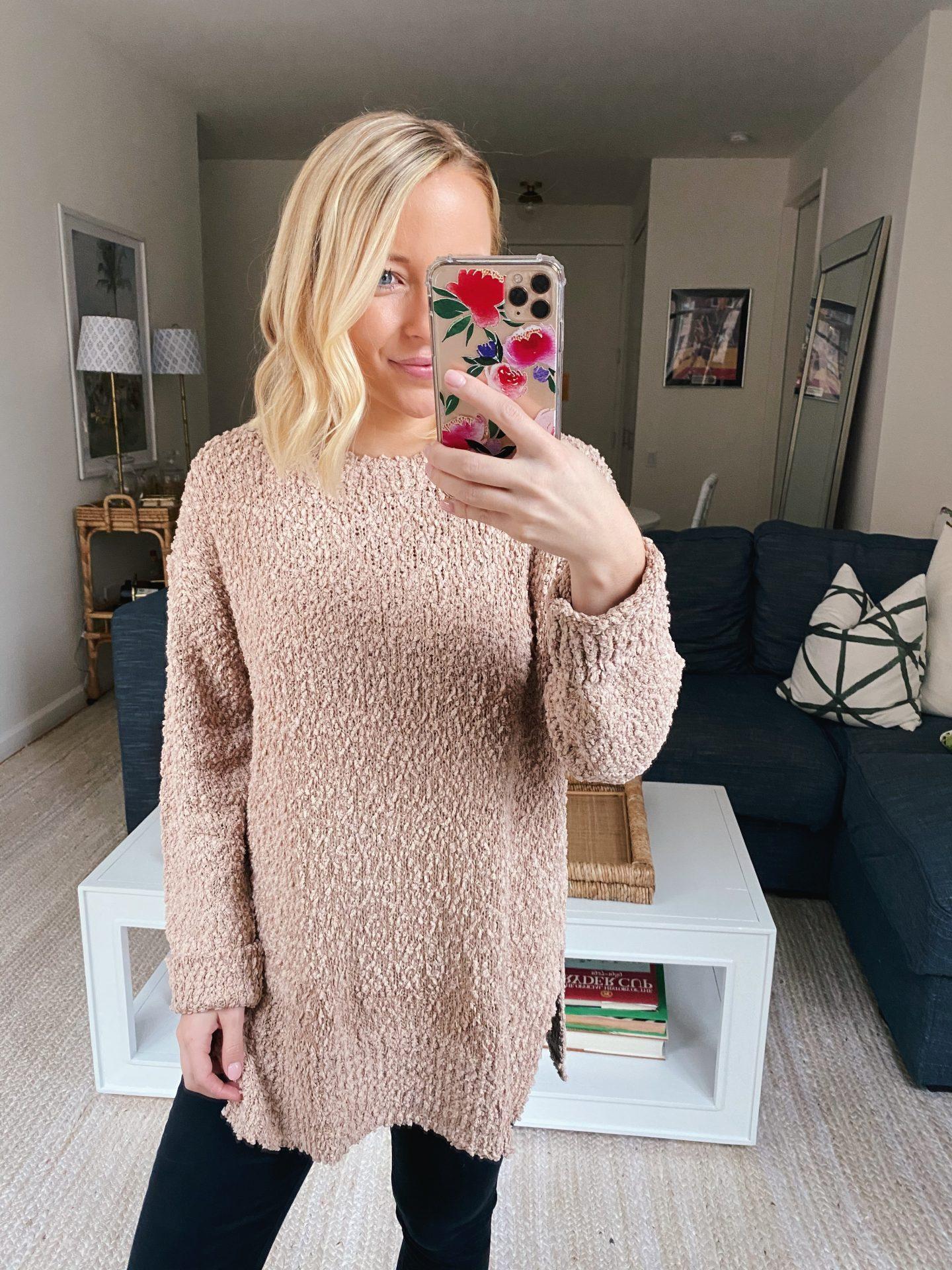 Amazon crewneck knit sweater