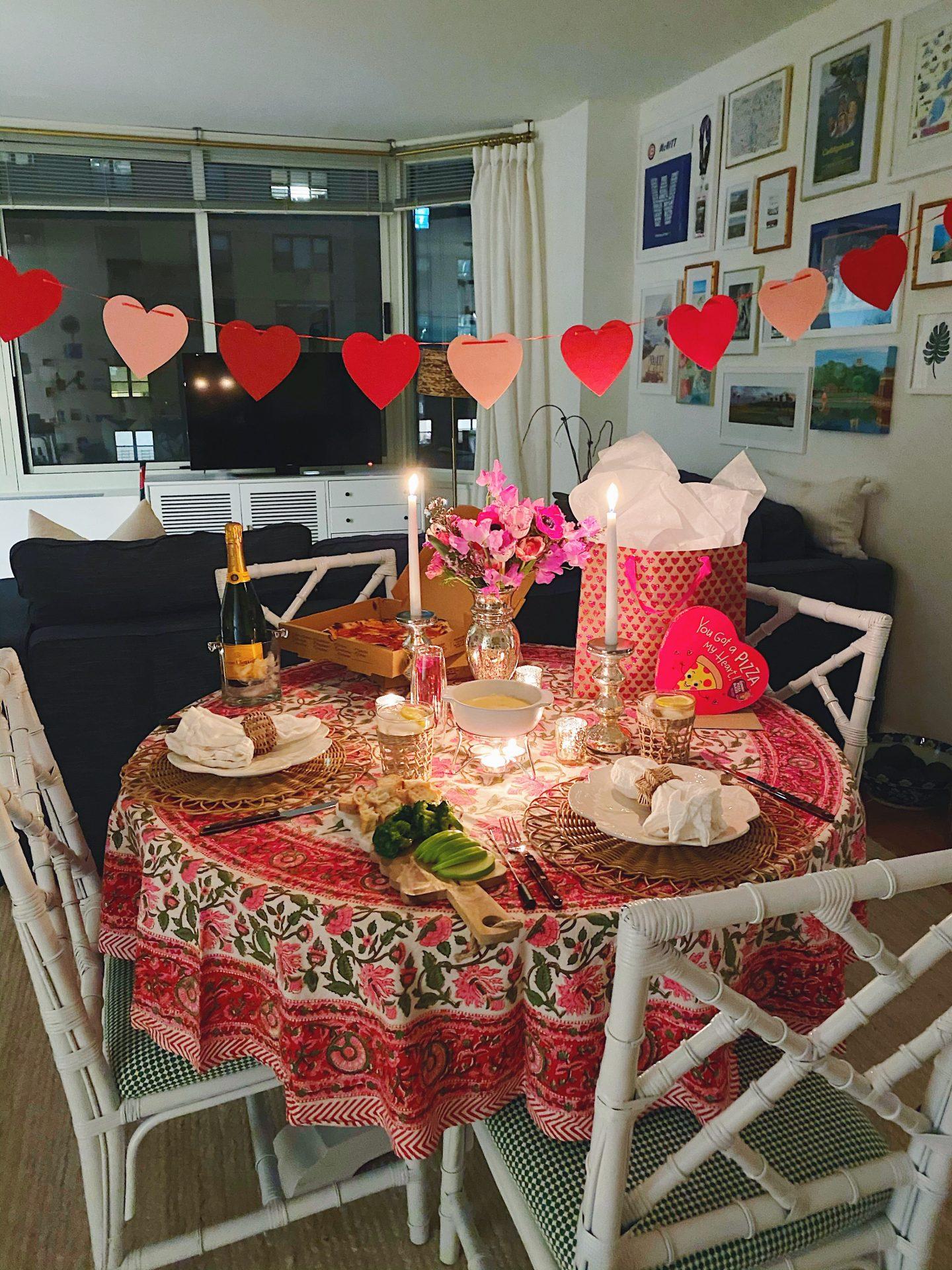 Pink & Rattan Romantic Tablescape