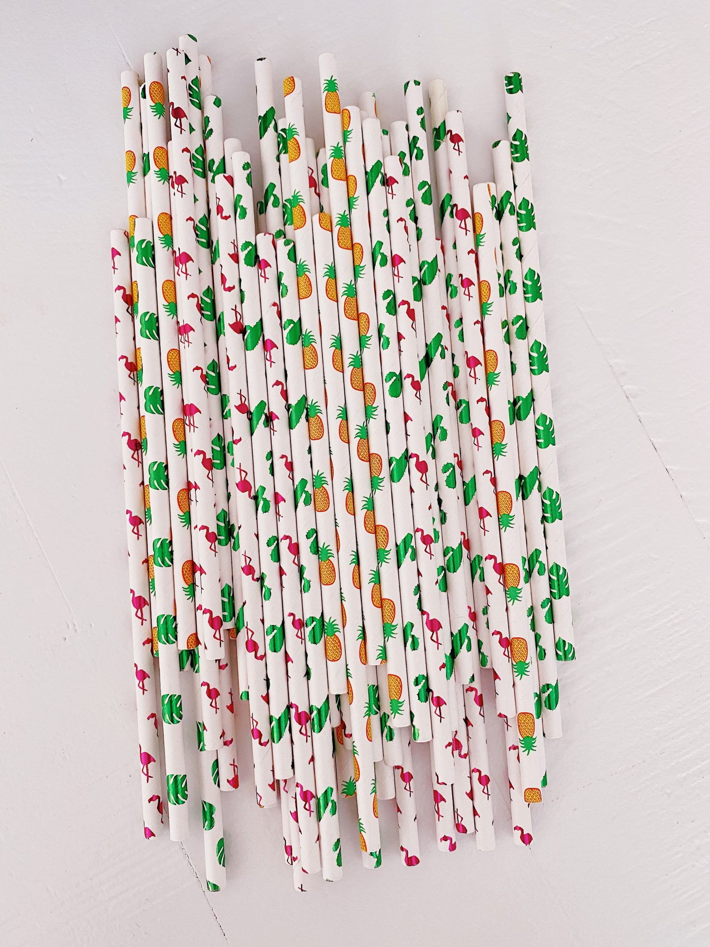 Amazon tropical paper straws