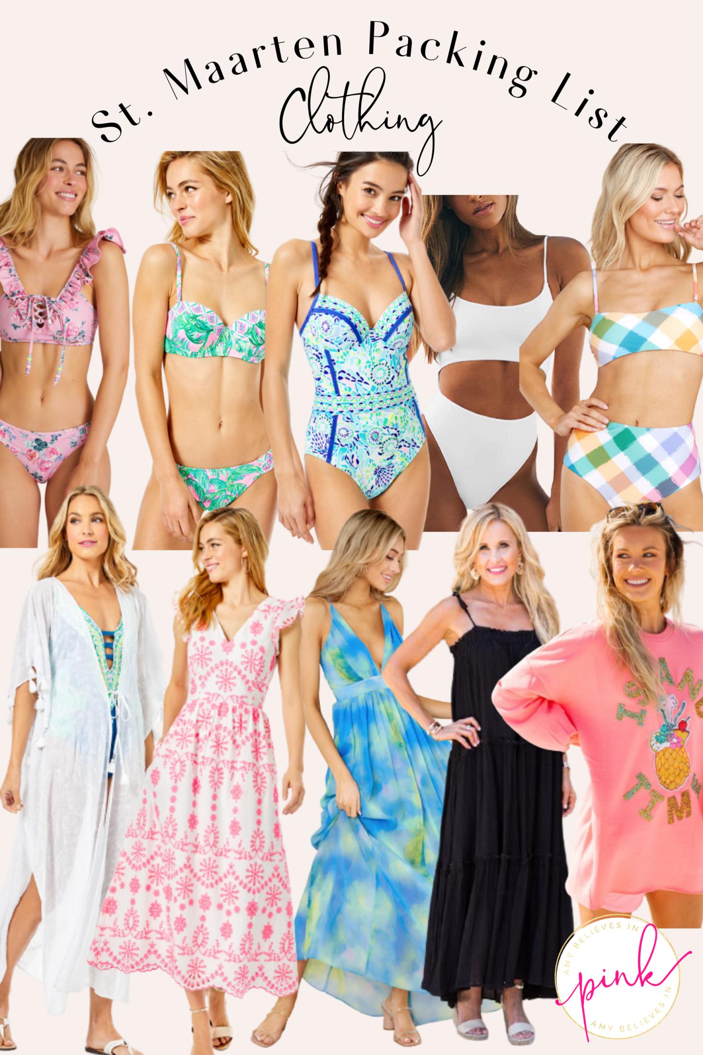 St. Maarten Spring Break Packing List Clothing
