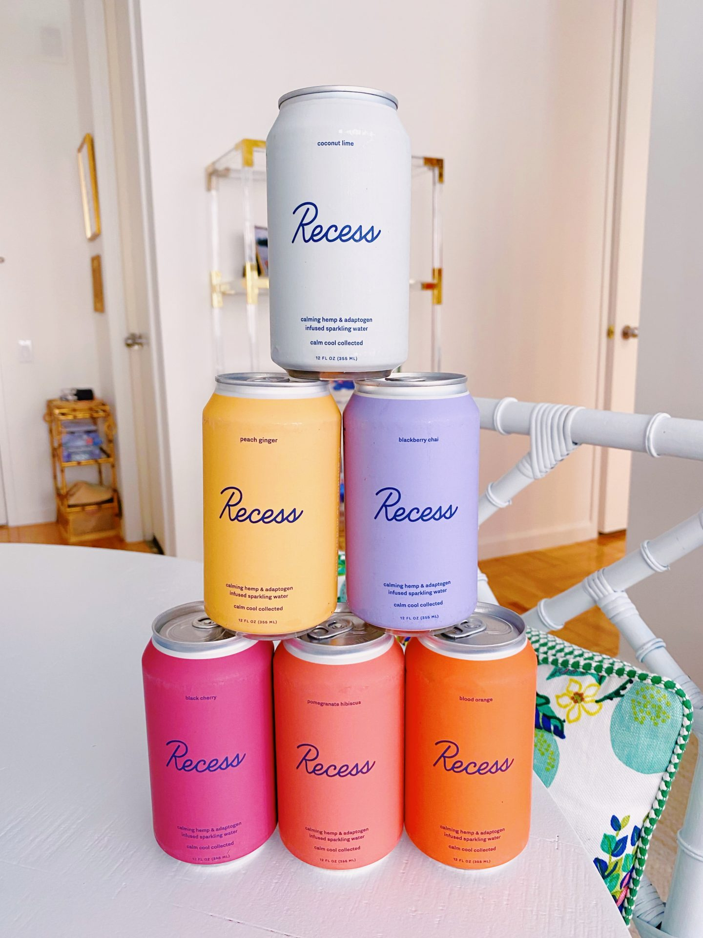 Amazon Recess hemp and adaptogen infused sparkling water