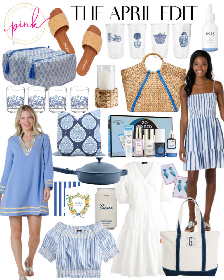 April blue and white trend edit