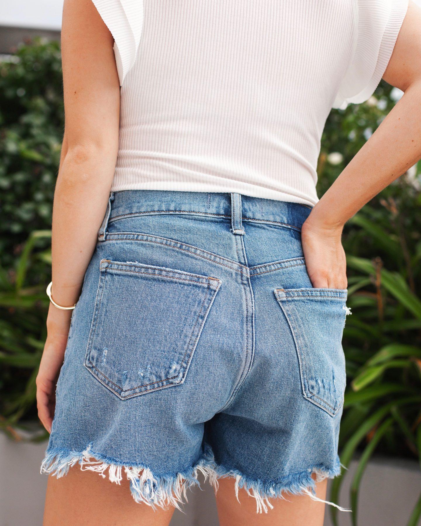 Abercrombie Curve Love High Rise Jean Shorts