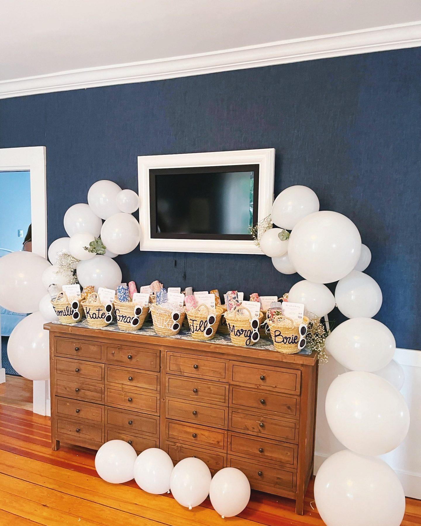 White Balloon Arch Garland