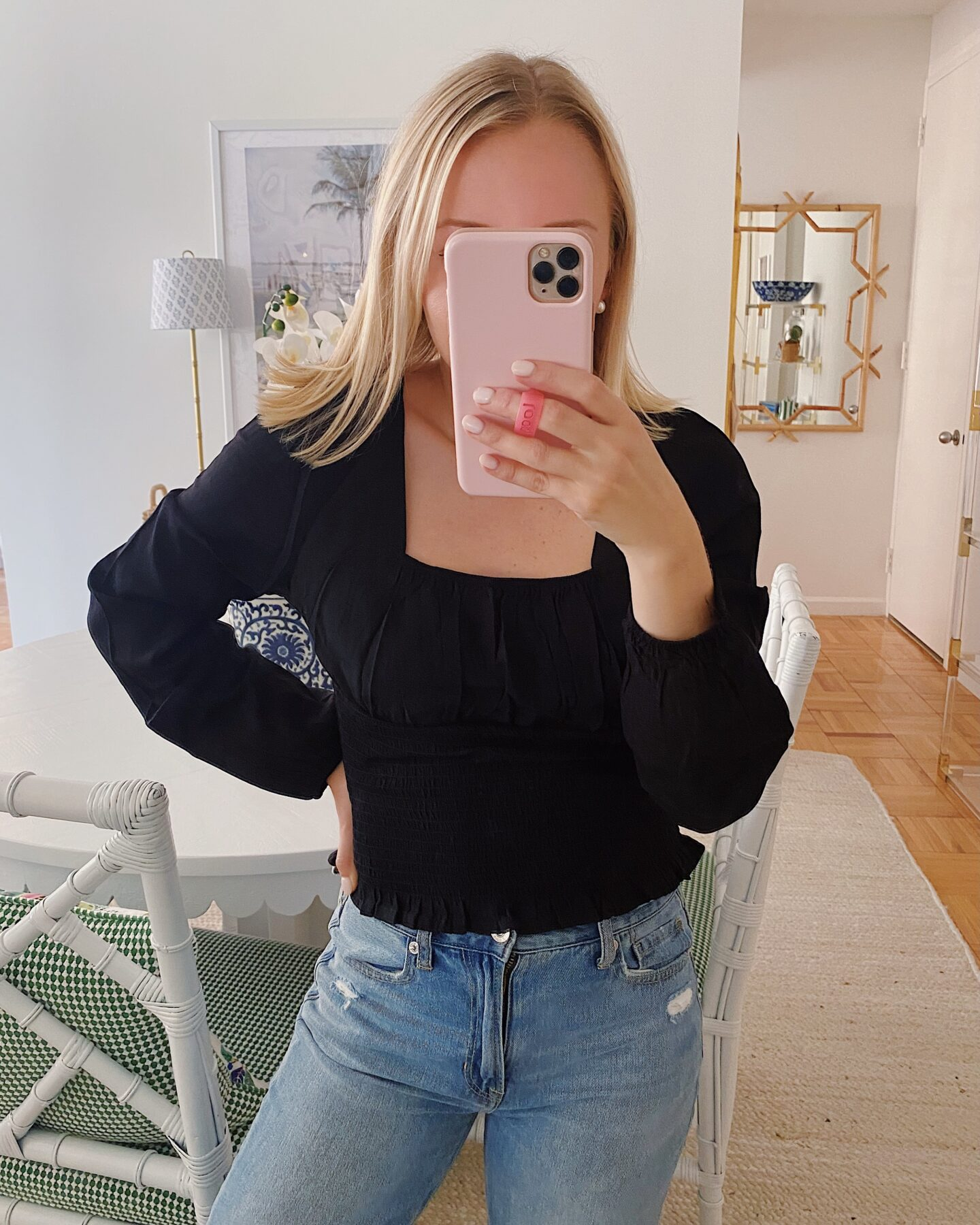 Frill Smocked Crop Top