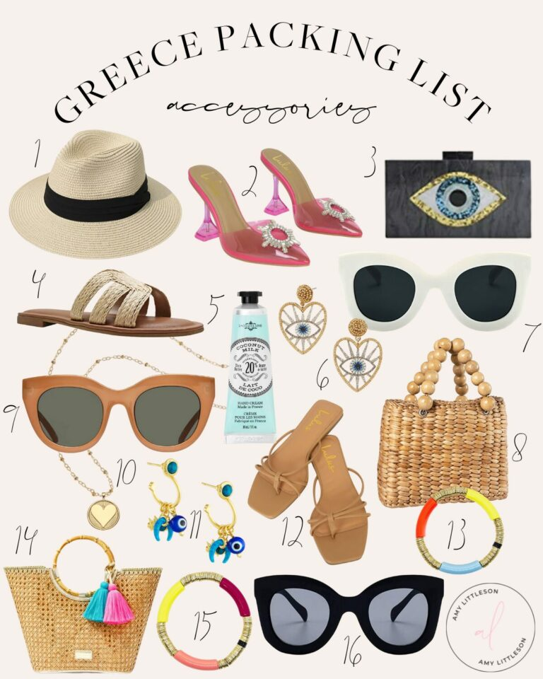Greece Packing List Accessories