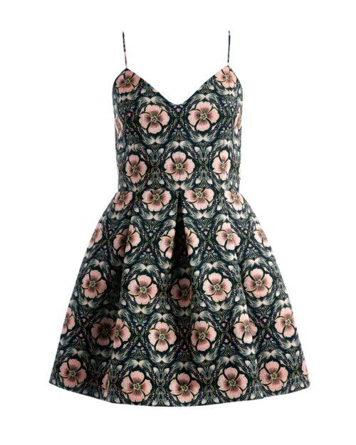 Alice and Olivia Spaghetti Strap Party Dress