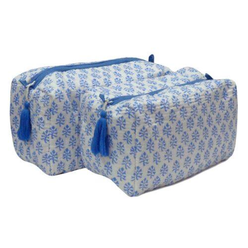 Block Print Cosmetic Bags