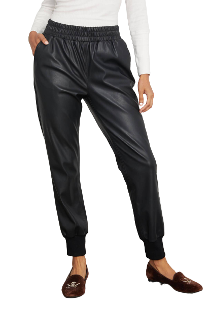 RD Style Faux Leather Joggers