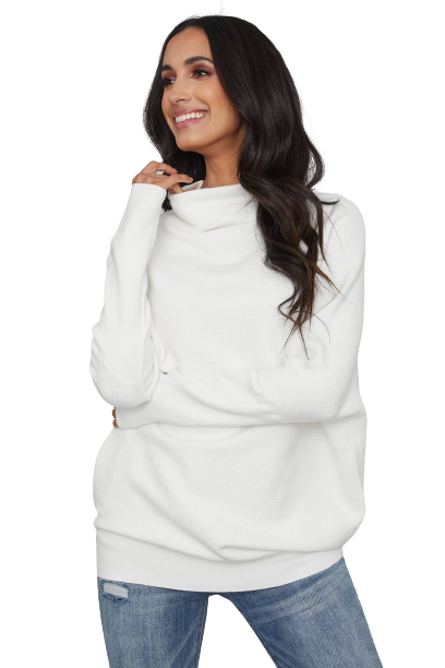 Slouch Neck Dolman Pullover