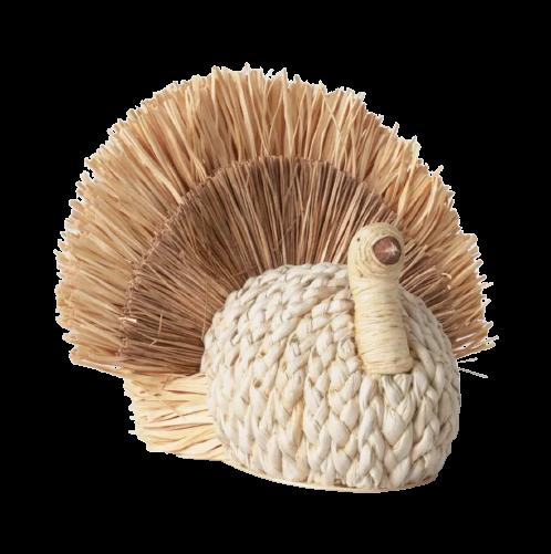 Woven Corn Husk Turkey Figurine